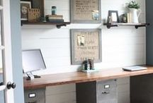 Home Office Ideas! / Every writer needs a great office. Here are some ideas, tips and tricks to make yours special.