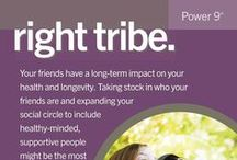 """Right Tribe / . Right Tribe The world's longest lived people chose–or were born into–social circles that supported healthy behaviors, Okinawans created """"moais""""–groups of five friends that committed to each other for life. Research from the Framingham Studies shows that smoking, obesity, happiness, and even loneliness are contagious. So the social networks of long-lived people have favorably shaped their health behaviors."""