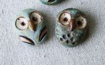 Buttons and Beads of Clay / Ceramic Clay, Polymer Clay, PMC Clay, Copper Clay, Bronze Clay, Paper Clay