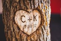 Wood Themed Wedding Ideas / Rustic and natural wooden themed wedding ideas and inspiration.