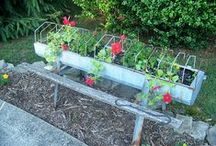 RUSTIC CONTAINERS WITH FLOWERS / by Dick N Jan Breedlove