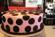 fun cakes & desserts / At Sinners Saints Desserts we love helping you with all you custom orders!  If you can imagine it we will try and make it!