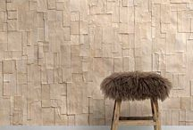 papered walls / Creative wall coverings