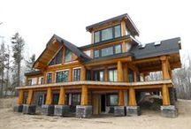 Post & Beam Log Homes (Artisan) / Custom Post & Beam Homes designed and built by Artisan Log Homes.