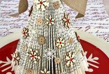 Miniature Christmas Trees / Ideas for handcrafted miniature Christmas trees.