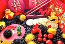 chinese new year / learn about China and celebrate Chinese New Year with kindergarten children