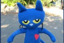 Pete the Cat / the blue cat with the groovy attitude - do we love him - of course we do