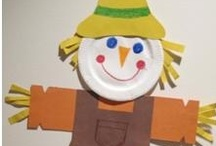 fall / leaves, crows, scarecrows, pumpkins - lots fun fall activities for children