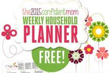 My Weekly Household Planner / Get your home organized easily and keep your sanity! Grab my FREE weekly household planner (with an optional supplement kit you can purchase) right here - http://bit.ly/1GrhdUk / by Susan {The Confident Mom}
