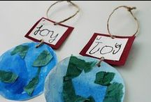 Christmas - ornaments / Christmas ornaments that children can make to hang on the Christmas tree