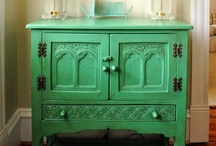 Color - Painted Furniture / I love having some painted pieces in a room. It creates such a nice mix. Check out some lovely ways to incorporate painted furniture in a room below.