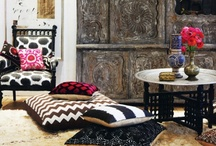 Bohemian Interiors / Bohemian interiors, lots of color, ethnic patterns, fabulous lights, mismatched furniture.. Love!