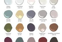 Paint Colors / I've assembled images of rooms with the specific paint color labeled. Many of my clients would love to see their color in a room, up on the walls.  Here you go!!!!