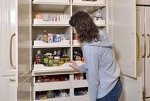Pantries / Ooooo, don't we all love a great pantry. Kitchen organization is just so delicious! There are tons of examples of pantry solutions. Walk-in pantries, pantries in cabinetry...lots of great ideas for storing food.