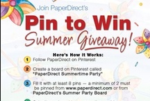"""PaperDirect Summer Products Giveaway / Pin at least 2 of these products on a board called """"PaperDirect Summertime Party"""" and you could win $150 towards PaperDirect products! Submit your boards here: http://pinterest.com/pin/125608277079841400/"""