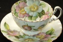 Porcelain Tea Sets / Antique porcelain tea cups, glass, and fine bone china tea sets.