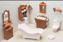 Dokkehus - dollhouse - miniatures