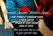Pinnacle® Sweater Weather Swirl / Bundle up with Pinnacle® Vodka. The only vodka with over 40 playful flavors.