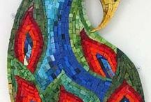 Mosaic Art / My mother created some wonderful mosaic art. This collection inspires me to continue in her tradition.