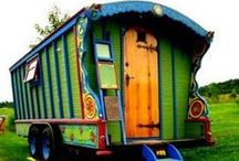 Gypsy Wagons / Gypsy wagons to admire and build. Our friend owns a wonderful Gypsy stallion, so we're gathering small camp wagon ideas to use. We'd love to show him off in local parades and shows!