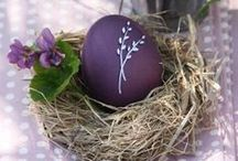 Easter Ideas / Lovely Easter themed crafts with egg coloring and home decorating ideas and directions.