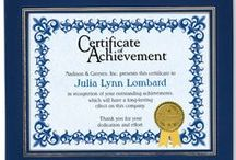 Employee Recognition Certificates / Ways to show your employees that they are amazing!