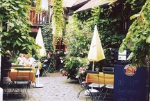 Afternoon in the Biergarten / Please join me for cocktails and appetizers in the biergarten.
