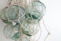 Glass floats and drift wood