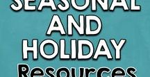 Seasons, Holidays, School Events | School Counseling / School counseling resources for holidays and seasonal events. Perfect resources for back to school, fall, winter, spring, Halloween, Thanksgiving, Valentine's Day, St. Patrick's Day and more.