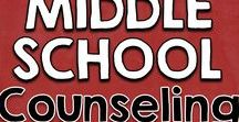 Counseling | Middle School / Counseling for middle school students covering bullying, anxiety, divorce, friendships, social skills, organization, anger, depression. Small group, class, and individual.