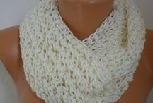❦ ❦ Crochet and Knitting  / Shawl,Shrug,Bolero,Scarf,Gloves,Pompom,Lariat