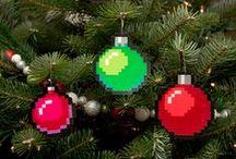Christmas beads/embroidery