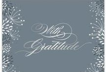 Winter Weddings / Winter weddings are beautiful, especially in snowy weather! Don't forget to send a gracious thank you card to all of your honored guests!