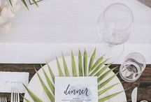Event/Dinner Table Decor Ideas / Planning an event or just hosting a celebratory dinner at home? We've selected a few of our favourite table decor ideas and place settings.