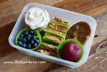 food || lunch boxes / Lunch box ideas! Lunch boxes, recipes, tips and tricks to make school lunches interesting.