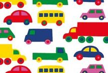 Bright, happy bedroom for the boys / An inspiration board of fun, bright, colorful things for my boys' rooms. I am inspired by a vintage Bo Boo car fabric by Marimekko that my mother had for us when we were children.  / by Barbara Thornton