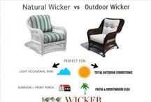 "Wicker Furniture / Wicker Furniture by Wicker Paradise. Collection of different grouping and various pieces, most are able to be customized with your choice of fabrics on cushions. This is all REAL, natural wicker, so go to our ""Outdoor Wicker Furniture"" if you're looking for beautiful outdoor synthetic wicker."