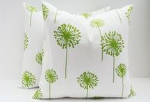 Throw Pillows / Throw pillows are furniture's best friend  The traditional two piece throw pillow arrangement on the sofa in a nice coordinating fabric and you will create visual pop which will be delightful to look at for years to come.