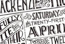 Typography / Ways with words / by Alexandra Snowdon