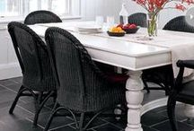 Black Wicker / Black wicker furniture adds a sleek edge to your design. Charismatic and charming, black wicker will never go out of style and boldly introduces your wicker with the presence it deserves. http://www.wickerparadise.com/moouwisetof5.html / by Wicker Paradise