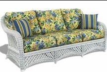 White Wicker / White wicker furniture is the original classic color associated with your grandmas wicker furniture. Enjoy this collection of bright white wicker! www.wickerparadise.com