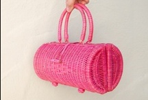 Pink Wicker / Everything pink that is woven! Wicker furniture, chairs, bags, designs and pink wicker accessories. Made by www.wickerparadise.com/wicker