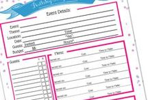 Party Planning / Party planning tips: Party planning organization, party planning guides, party planning checklists, party planning printables