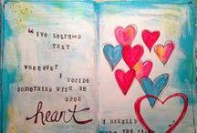 Art Journals, Sketchbooks et al / Art journals:: moleskine, watercolor, paperbag, handmade, bound pages or loosely kept in a decorated folder.... love them all!