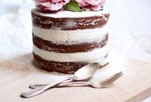 Baking Day ✻ Naked Cakes / I adore this style of Cake and how lovely they look decorated with Roses or Edible Flowers! What a wonderful alternative to the traditional Iced Cake! Perfect for Rustic Weddings or Tea in the Garden!!