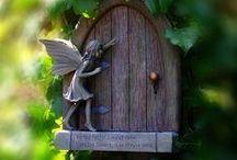 Fairy houses and gardens. Casas y jardines de hadas