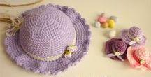 BAPTISM - CHRISTENING / Crochet themed baptism decorations. Crochet favors.  Crochet christening dresses.