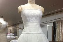 HYDRA Wedding Gown / Our HYDRA #weddingdress is flirty and sweet and offers an unexpected hemline for a #weddinggown.  Made from 100% #cotton English #tulle and boasts a flattering #french portrait lace #bodice and #hem.  The cummerbund is hand draped - of course.  Lined in 100% #cotton and available in white and ivory.  As always, HYDRA is custom made-to-measure in our #atelier for your beautiful figure. #bespoke #custombridal #bespoke #bridl #madeinusa #madeinNY #handsewn #sewn @discover_cotton / by The Cotton Bride
