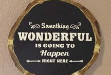 Chalkboard Crafts / by Eileen - The Artful Crafter