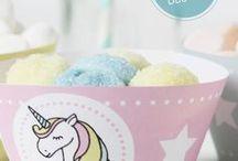 Kindergeburtstag Einhorn / Geburtstagsparty für Kinder. Motto für die Party: Einhorn! Rezepte, Spielideen und DIY Tipps zum Selbermachen für die Deko